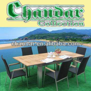 Brushed aluminum tablet set garden furniture