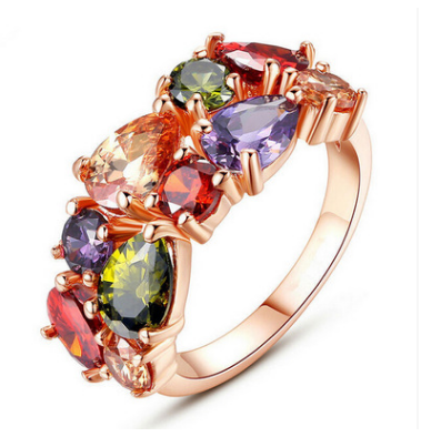 Direct manufacturers fashion jewelry ring CZ Ring wholesale
