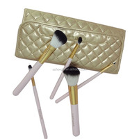 New 5 PCS Makeup Brush Cosmetic Brushes Set with leather bag