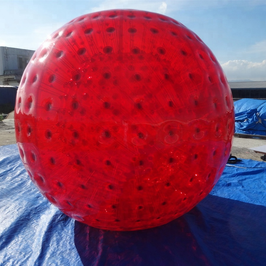 2.5m huge zorbs red color inflatable human hamster <strong>ball</strong> good price for wholesale