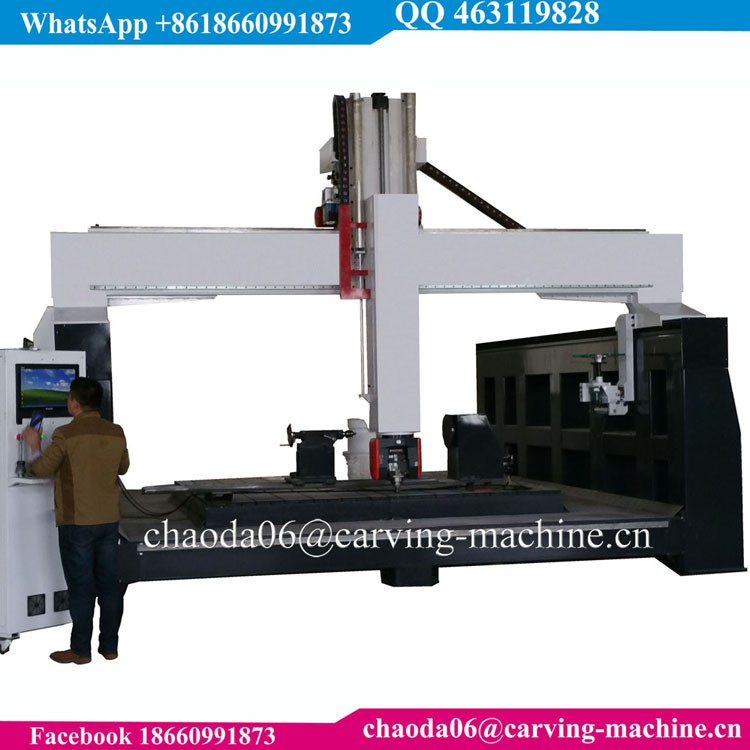Multi Head 5 Axis 3D Rotary CNC Shaping Drill Leg Wood Machine, 4 Axis CNC Router Wood Chair Leg