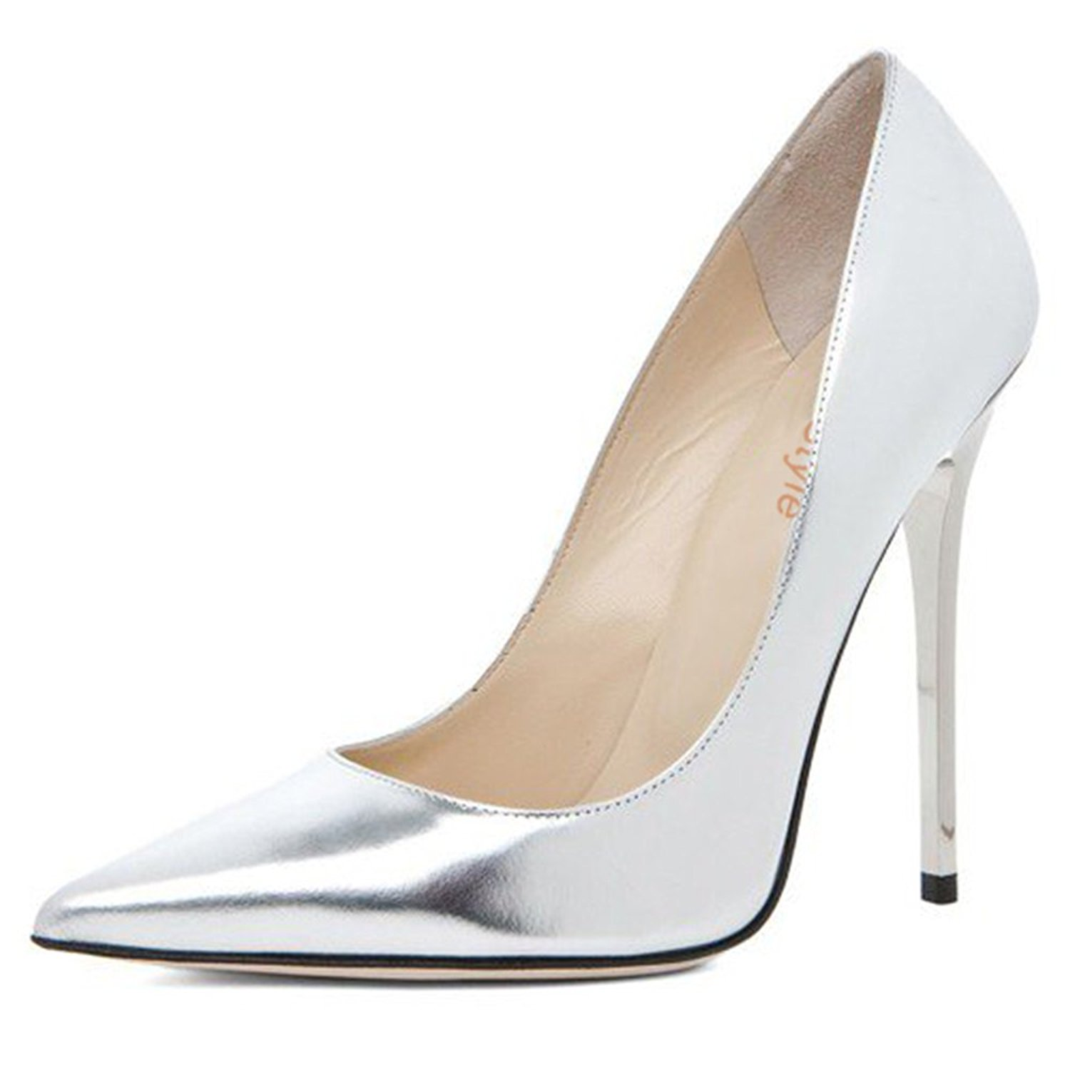 637625773bbf Get Quotations · ShoesStyle Office Lady Silver Pumps High Heel Formal Stilettos  Women Dress Shoes