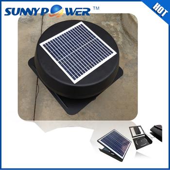 Sunny 15 Watt 14 Inch Solar Fan And Stand Car