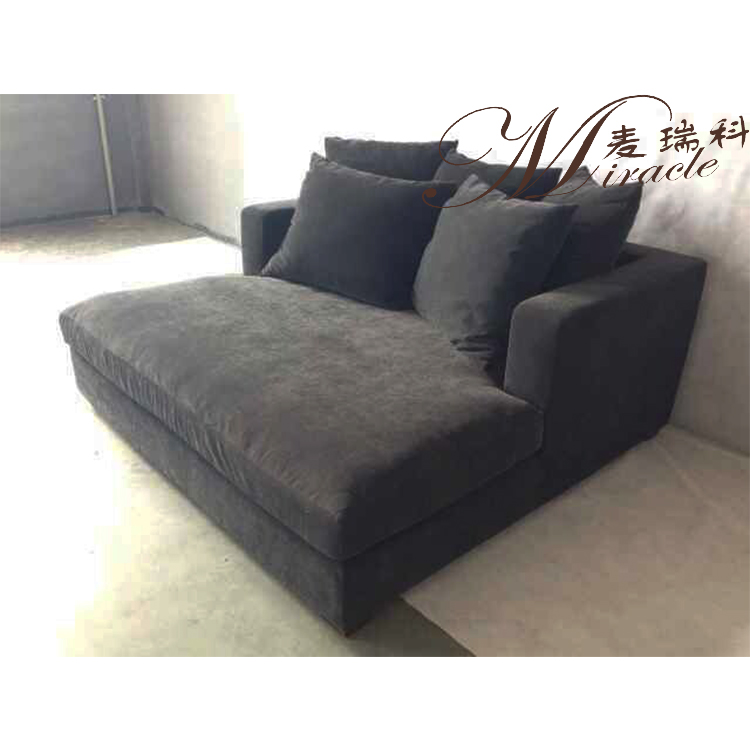 Hot Sale Nordic Style Classic Dark Grey Velvet Sofa Bed Upholstery Corner Couch