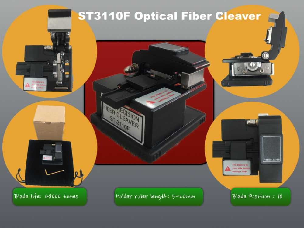 ST3110F Fiber Optic Cleaver/Cutter Tool, FTTx, small size Cleaver
