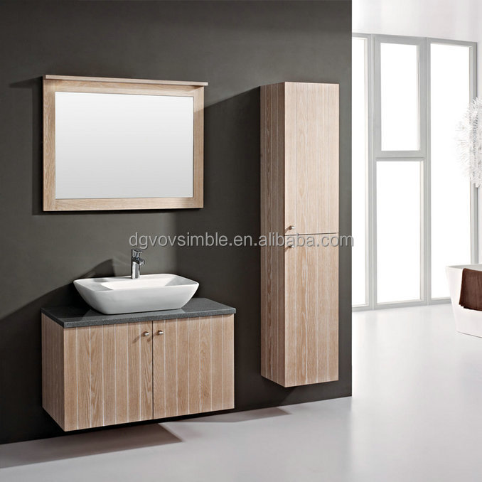 Modern cabinet furniture vineer plywood bathroom vanity set