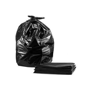 Tasker 65 Gallon Trash Bags Large Black Litter Contractor Bin Garbage Liner