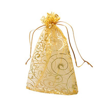 Jewelry Party Organza Drawstring Pouches Wedding Favor Gift Bag
