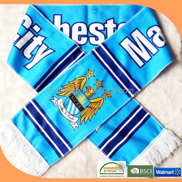 Fashionable football soccer fan scarf wholesale on alibaba express