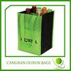 Promotional non woven four bottle wine bag