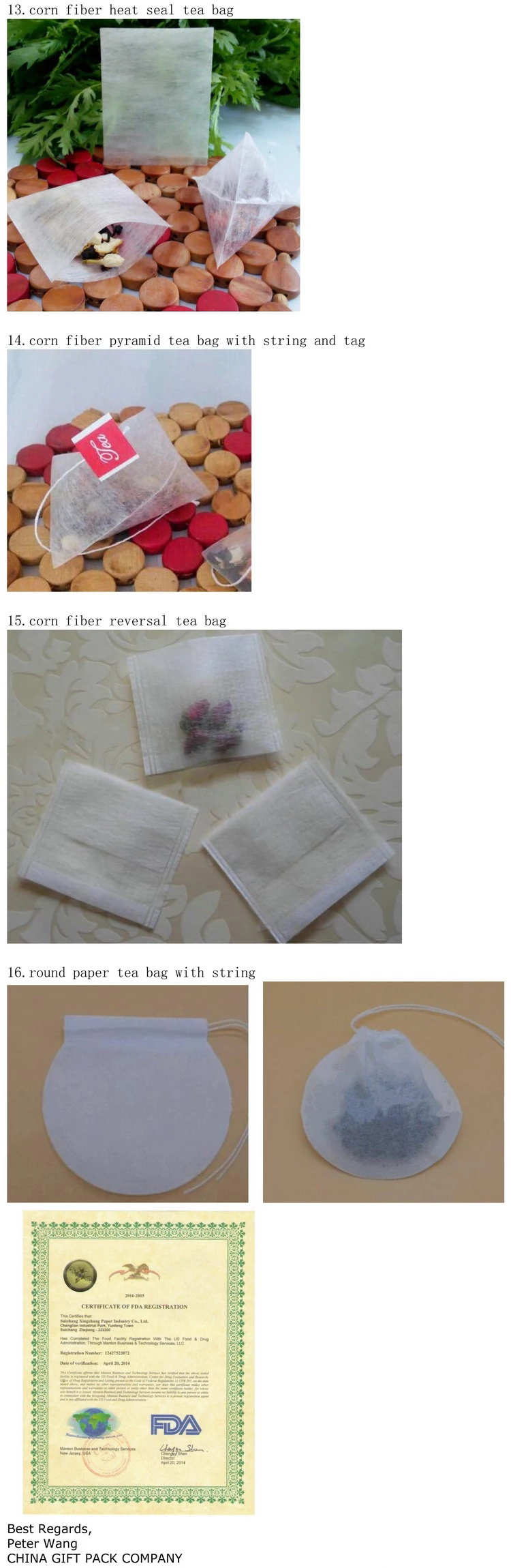 Biodegradable High Quality Empty Triangle Tea Bag Tea Filter Bag With String