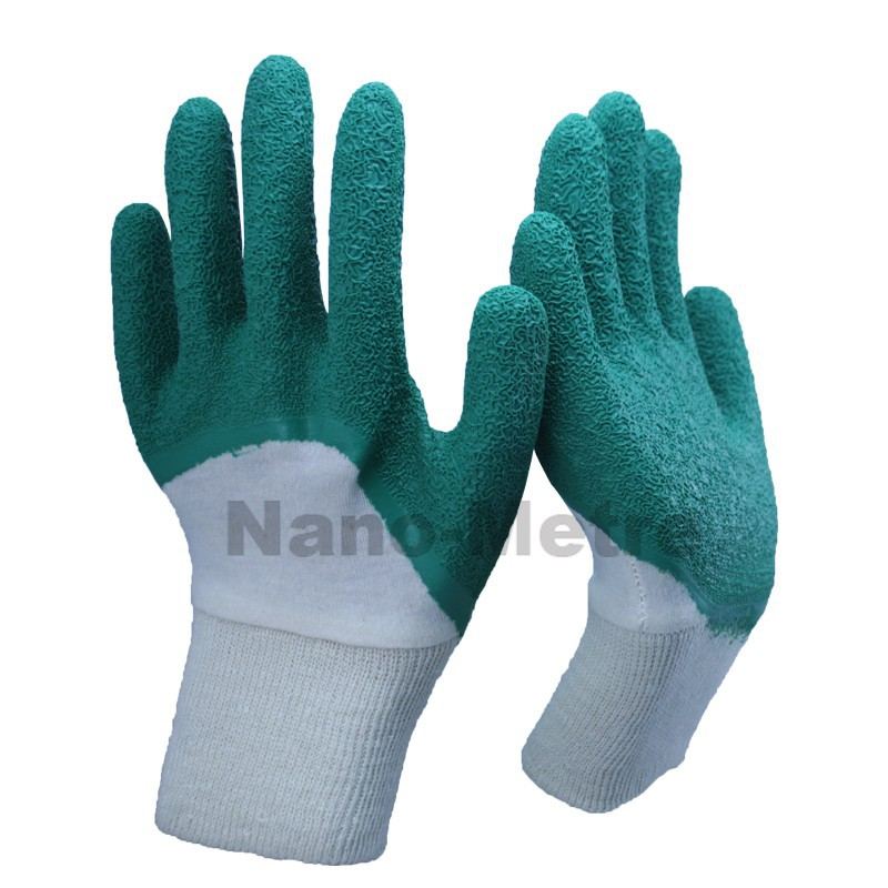NMSAFETY utility safety latex gloves en388 green