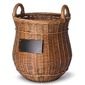 Smith & Hawken Round Decorative Basket with Chalkboard by Smith & Hawken