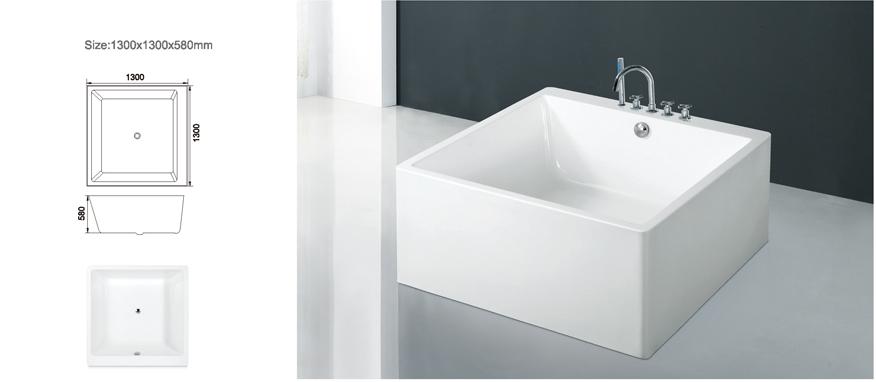 Quadratische Badewanne ad 289 modernes bad ecke 130x130 cm quadratische badewanne für mini
