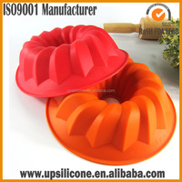 BPA Free Food Grade Silicone Fluted Mold Bunt Pan- silicone cake mould toast microwave oven bakeware Mold Bundt Cake Pan Bread