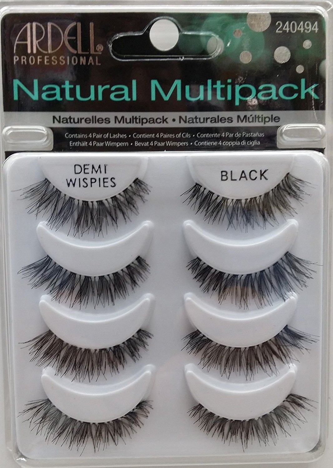 e0bac66f6a8 Get Quotations · Ardell Demi Wispies Natural Multi Pack (4 Pairs) False  Eyelashes Fake Lashes