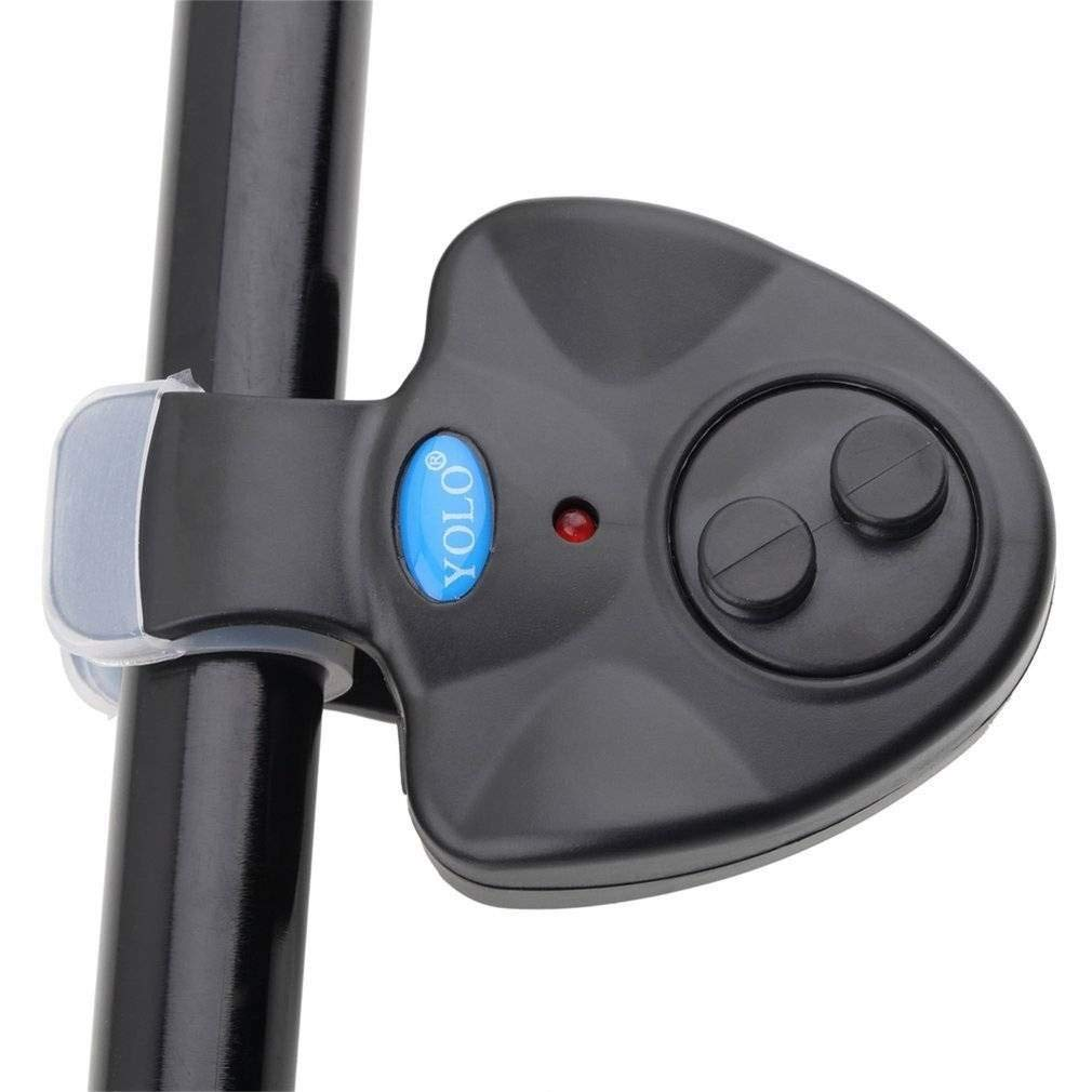 GLQ Electronic Fish Bite Sound Alarm-On- Alert Indicator LED Alarms Daytime/Night Carp Fishing Outdoor-Incidental 3 X LR44 Button Battery-Indicator Fish Bite Alarms for Fishing Pole Rods Line