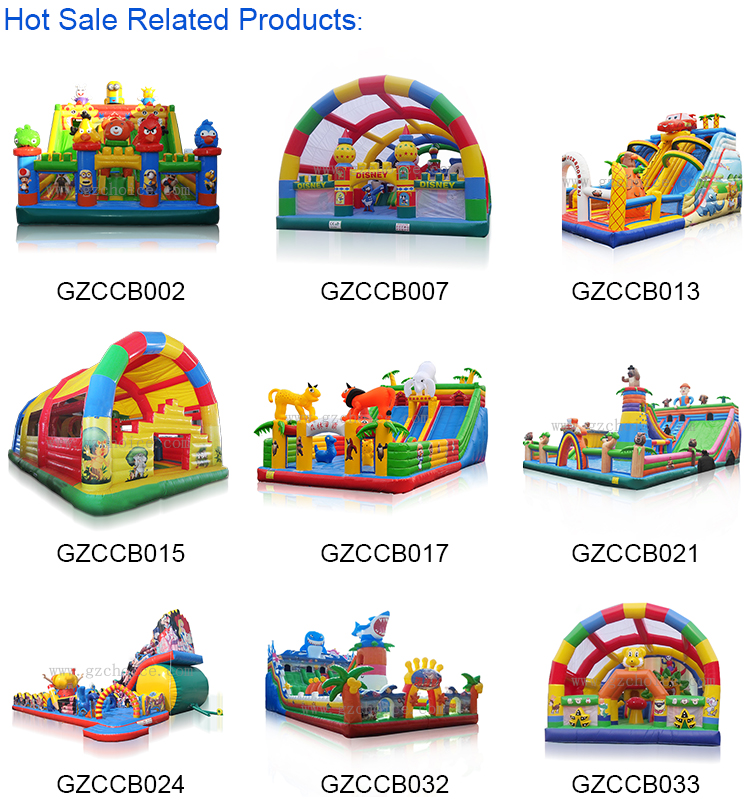 Hot Sell New Design inflatable bounce house slide combo inflatable castle combo