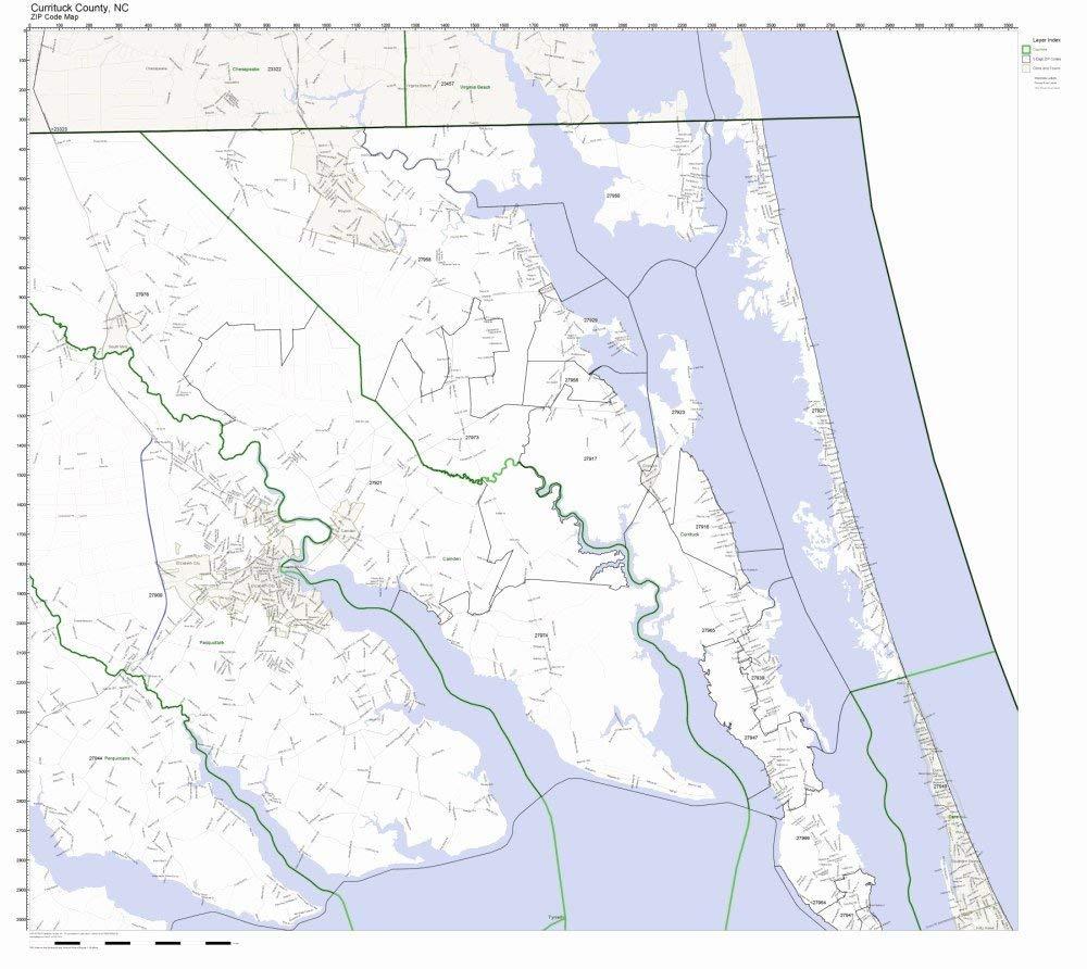 Buy Wake County, North Carolina NC ZIP Code Map Not Laminated in ...