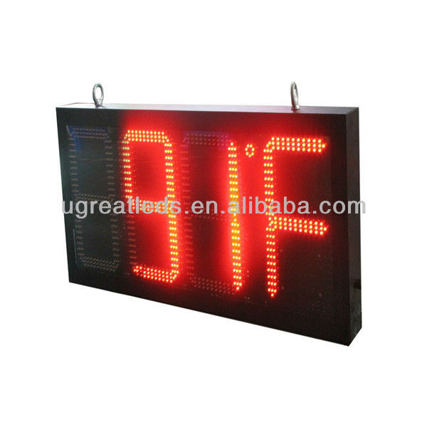Alibaba in Spanish New product hot sale16'' Outdoor Led Time and Humidity Display IP65