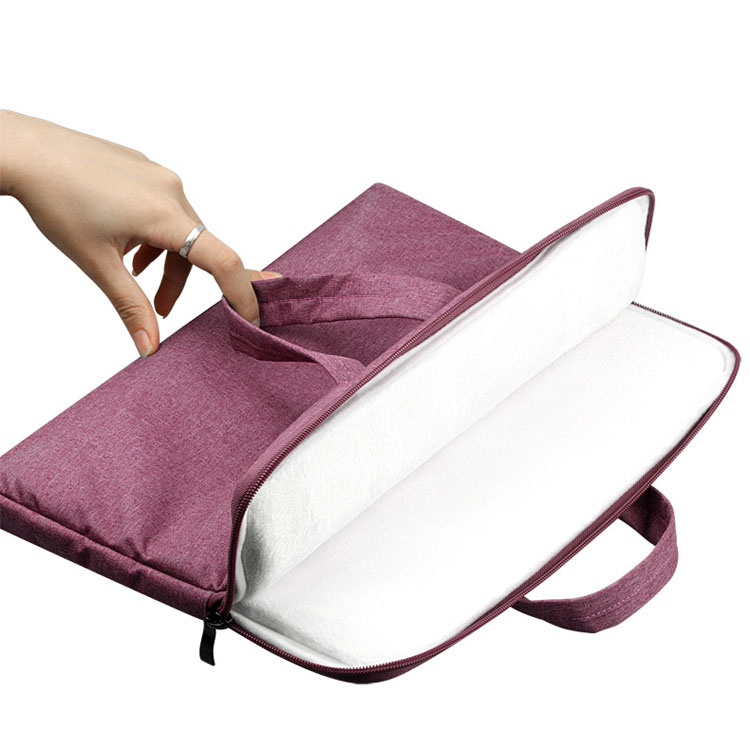 Custom size 13 14 15.6 inch simple lightweight ultra slim laptop sleeve hand bag for women men