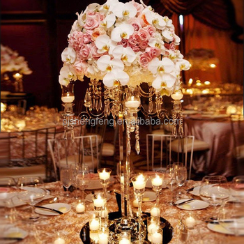 Tall Nine Arms Wedding Flower Centerpiece Crystal Candelabra Buy