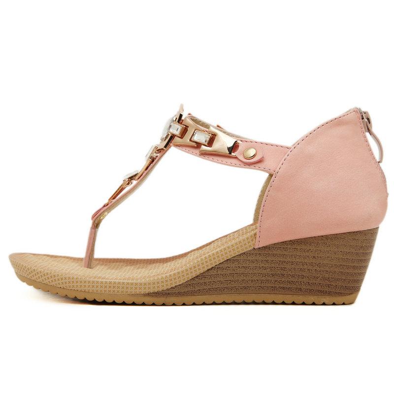 744954dd5979 UMMEWALO Summer Sandals Women Designer T strap Flip Flops Thong ...