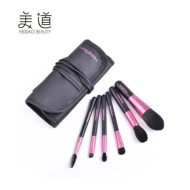 China Wholesale Goat Hair Pink Fancy Makeup Brush Set Professional