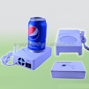 Environmental practical safe Mini USB Fridge Cooling Drink Mug USB Heated Coffee Cup for Promotional Gift