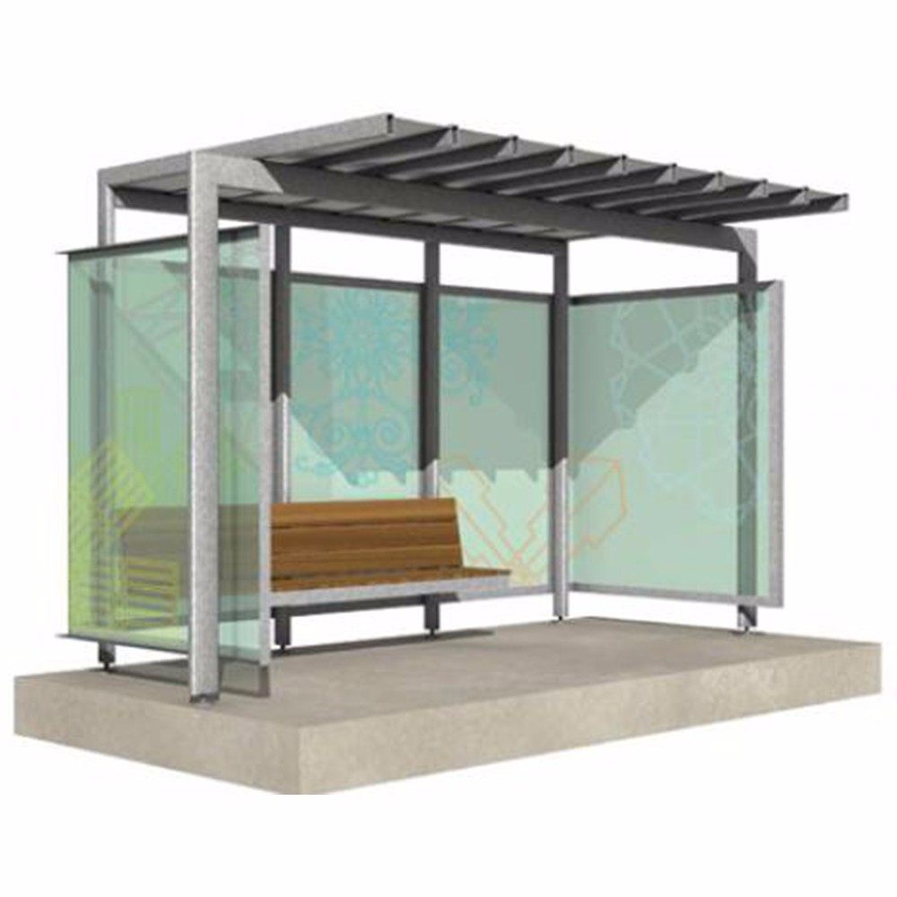 product-YEROO-Street Furniture Modern Advertising Light Box Bus Shelter-img
