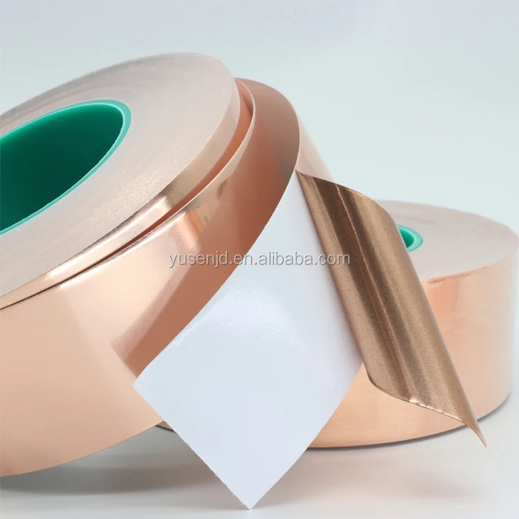 wholesalers Elecrical Conductivity Stained Glass Copper Foil Tape with Conductive Adhesive