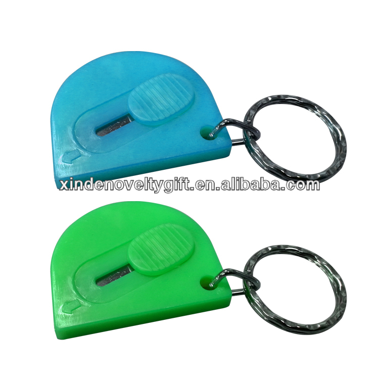 Retractable safety mini cutter, Mini cutter key chain key holder -with stainless steel blade