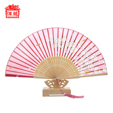 Cheap China Handicraft Modern Natural bamboo And Silk Manual Hand Fan GYS800-6