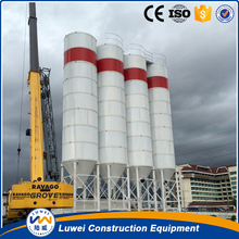 Assemble bolted type cement silo in concrete batching plant