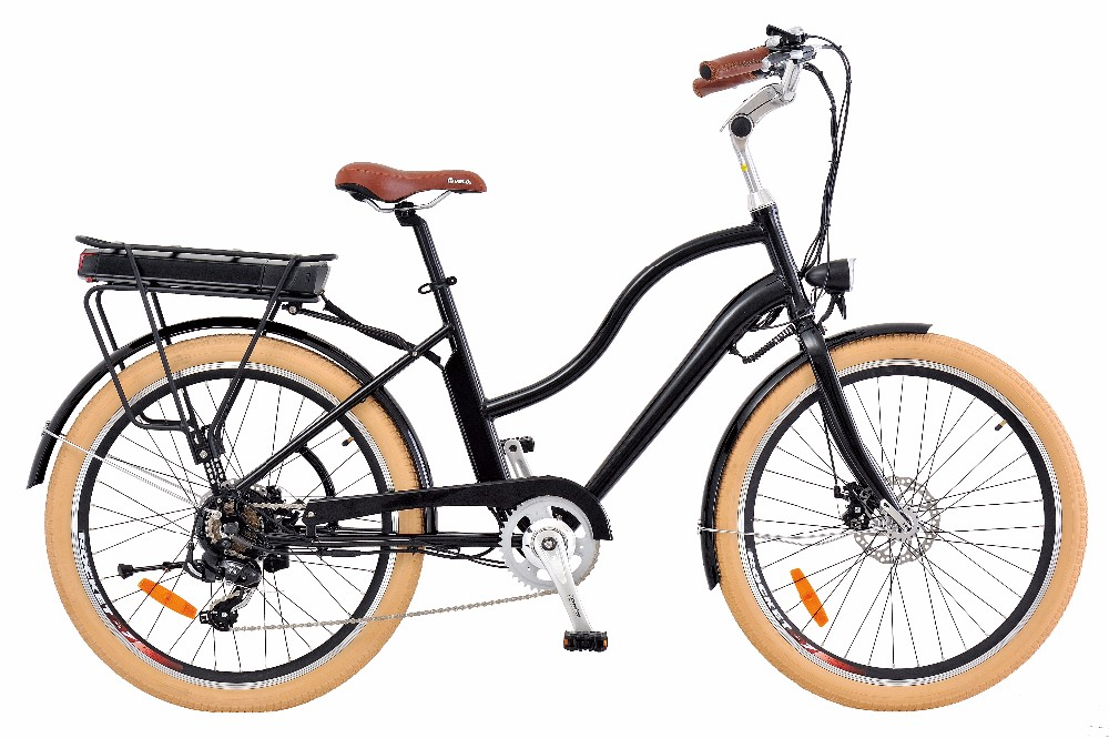 electric vintage style bicycle 250w 350w retro beach. Black Bedroom Furniture Sets. Home Design Ideas