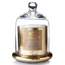 Luxury Copper Jar Scented Candle with Glass Dome
