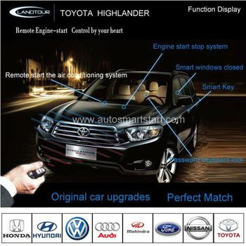 One Way Car Alarm System Car Remote Start Keyless Go For Toyota Highlander  - Buy Car Remote Start,Car Alarm System,Remote Keyless Starter Product on
