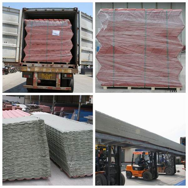 Low Temperature Resistance Royal Design PMMA/ASA Coated Roofing Tile  720mmu00261040mm
