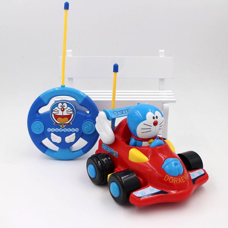 New Cartoon Doraemon Doll Mini Rc Car Boys Toys Cars Remote Control