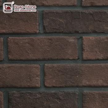 Rouge Couleur Visage Mince Mur De Briques Pour La Villa Hotel