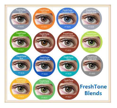14.5mm mesmerizing tri tone soft and seductive Blends contact lenses from Korea