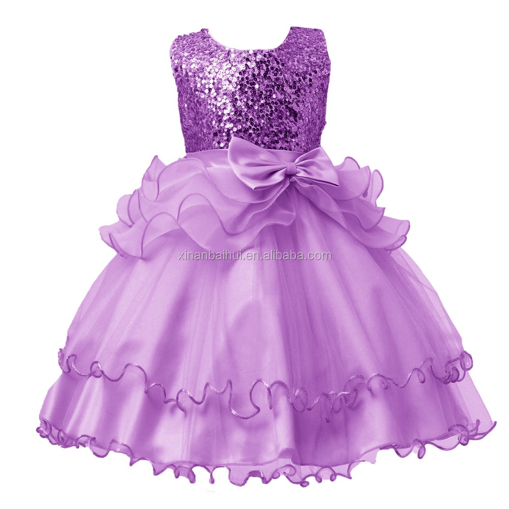 Precioso vestido de niña de flor de lentejuelas Champagne Tutu ...