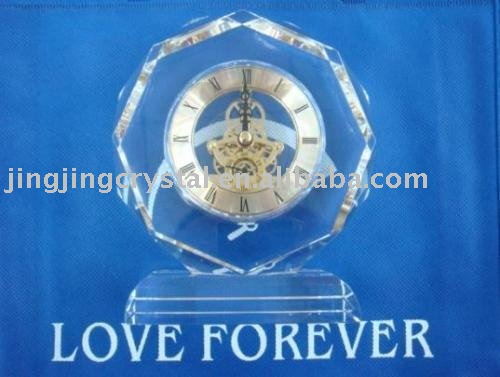 fashion crystal gift clock new products