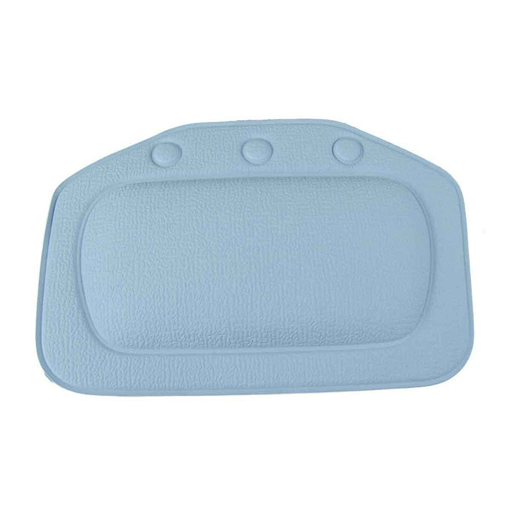 Pevor Bath Pillow Mat Bath Pillow For Tub Soft Waterproof Bath Pillow Bath Cushion With Suction Cups Non-Slip Foam Wedge Pillow Support Back And Neck Spa Pillow Give You A Nice Spa In Bathroom Blue