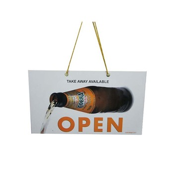 Customized  Wholesale Handmade Hanging Board Open Closed Door Sign