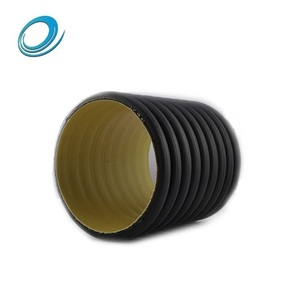 16 inch 20 inch 24 in black corrugated stormwater plastic drain pipe