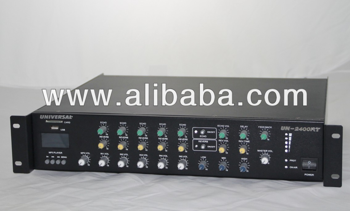 240w Echo Reverb Pa Amplifiers With Mp3 Player