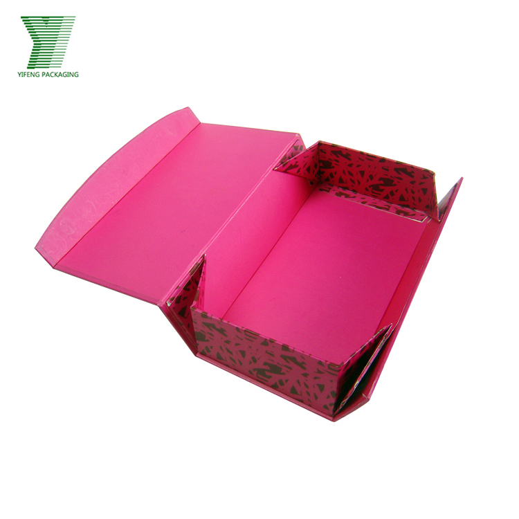 Luxury custom made cardboard foldable clothing gift boxes wholesale