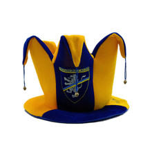 Fluwelen Borduren Logo Italiaanse Football Club <span class=keywords><strong>Team</strong></span> Fan Carnaval Hoed met Kleine Bel