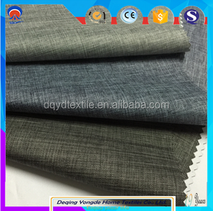 100% polyester coated 3 pass blackout curtain fabric for hotel project